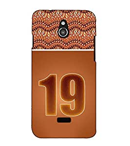 Fuson Designer Back Case Cover for InFocus M2 (Roman Number 19 theme)