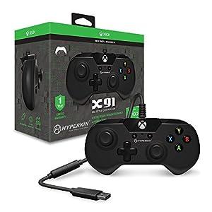 Hyperkin X91 Joystick Xbox One schwarz – Zubehör für Gaming (Joystick, Xbox One, Analog, kabelgebunden, USB, Schwarz)
