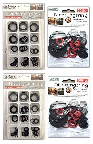 Sanitär Bad Küche Dichtungssortiment 200 Stück Dichtring-Set Dichtungsringe