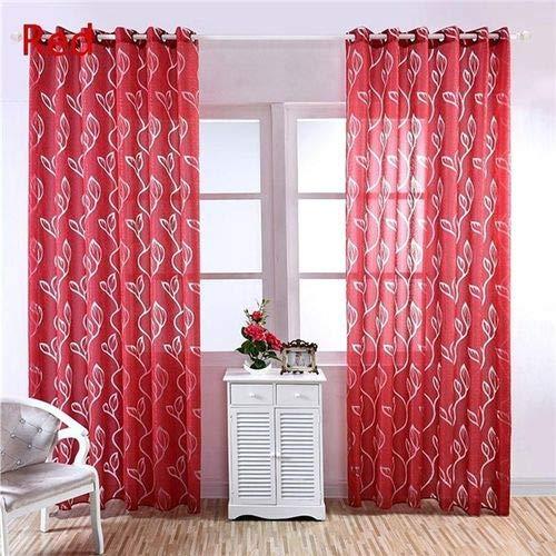 Liyao home decoration voile curtain fantasia trasparente foglia modello tenda di garza