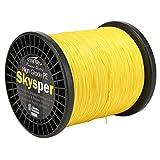 Skysper® Fishing Line 100%PE Geflochtene Angelschnur Spule 60lb, 0.400mm*1000m Gelb