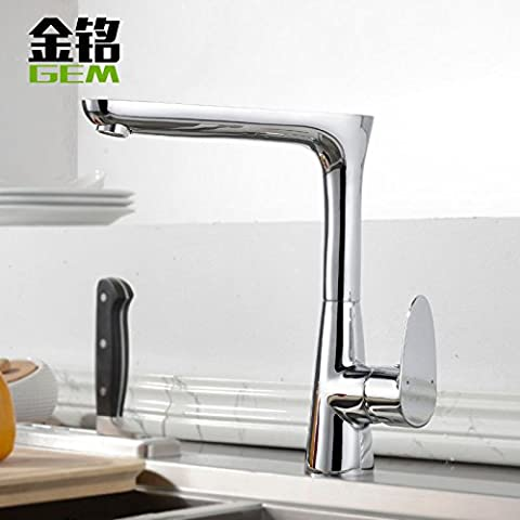 Furesnts Modern home kitchen and Bathroom Sink Taps Full Kitchen Taps copper cold water Taps leaves mixer dishes slot basin mixer Bathroom Sink Taps,(Standard G 1/2 universal hose ports)