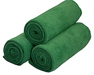 Hope Shine Microfibre Gym Towel Hand Towels Fast Drying Sports Travel towel Set 3-Pack 40cm X80cm (Army Green, 40cm X80cm)