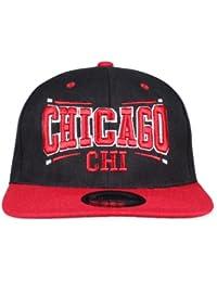 Original Snapback Cap Chicago Square Schwarz Rot Einheitsgröße