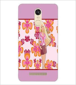 PrintDhaba Flower Girl D-1074 Back Case Cover for XIAOMI REDMI NOTE 3 (Multi-Coloured)