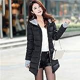 ASHOP Ropa Mujer, Chaquetas Mujer Invierno Elegante Abrigo Negro Outwear Sudadera con Capucha (Negro,M)