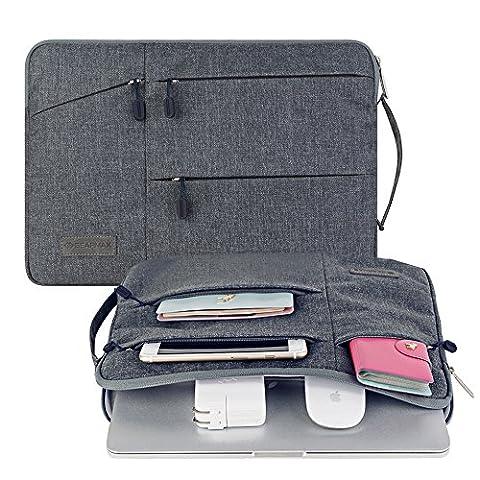 [13-13,3 Pouces] Laptop Sleeve /MacBook Air /MacBook Pro/ MacBook Pro Retina 13 Sacoche Ordinateur Portable 13,3 Pouces (Gris)