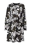 HALLHUBER Hängerkleid mit Blumenprint ausgestellter Schnitt Multicolor, 40