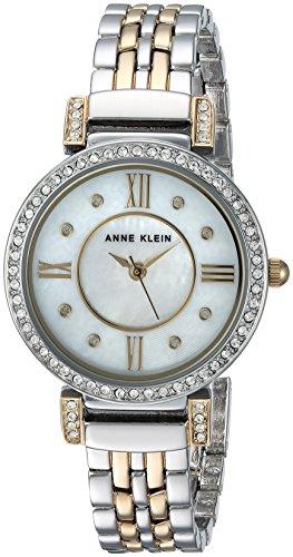 Anne Klein Women's AK-2929MPTT Silver Stainless-Steel Quartz Fashion Watch
