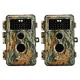 BlazeVideo [Upgraded] 16MP HD Kein Glühen Infrarot Flash Spiel Jagd Wildlife Kamera Cam PIR Bewegungssensor Aktiviert IP66 Wasserdicht Nachtsicht Überwachungskamera 38pcs IR LED, 2,4
