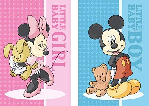 2er Pack - Set - tolle Gechenkidee für Kinder -Handtuch/Gesichtstuch / Gästetuch - 40 x 60 cm - 100% Baumwolle -2 er Set: 1 x Minnie Mouse und 1 x Mickey Mouse