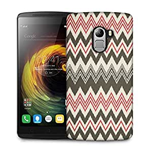 Snoogg Grey pink waves 2499 Designer Protective Back Case Cover For Lenovo K4 Note
