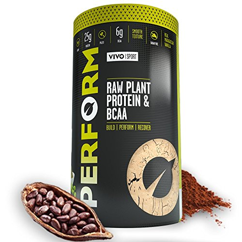 vivo-life-perform-raw-plant-protein-powder-vegan-cacao-shake-pea-protein-blend-with-bcaa-gluten-soy-
