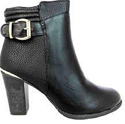 M&P Fashion  FLB481, Bottes Chukka fille femme Noir