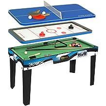 ... 4 en 1 Baby-foot, Billard Tennis de table, Hockey. CDTS - CSL756 - Jeu  de Plein Air - Table Multi Jeux 121 X 61 cm 4a8d722616d2