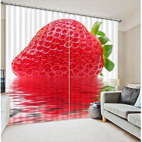 GYMNLJY Frutta 3D stampa tende cucina personalizzata decorazione finestra oscuranti