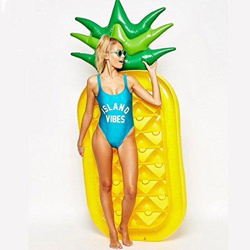 sw-ning aufblasbar Ananas Pool schwimmt Raft, Giant Schwimmende Matratze Liege Schwimmbad Strand Spielzeug für Erwachsene, Ananas, 108.2 x 55 x 47 inches