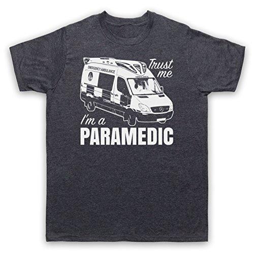 Trust Me I'm A Paramedic Funny Work Slogan Herren T-Shirt Jahrgang Schiefer