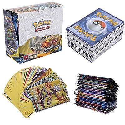 324 Piezas Pokemon Cartas, Juego de Cartas, Tarjetas de Pokemon, 36 Piezas GX Cartas, Sun & Moon Series y Celestial Storm Series por Colfeel