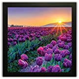 #7: PPD Framed Floral Wall Paintings for Living room and Bedroom with Frame size (12 inch x 12 inch, (Wood, 30 cm x 3 cm x 30 cm, Special Effect Textured)