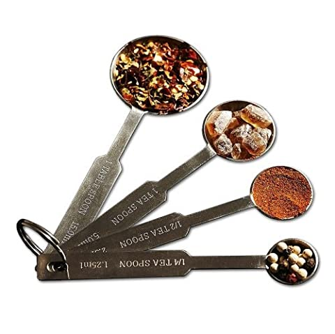 Natizo Stainless Steel Measuring Spoons - Set of 4 Accurate