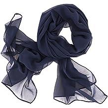 Chiffon Schal 20 Unifarben Farben Kopftuch  Stola Schal Tuch Halstuch
