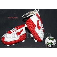 Baby stivaletti Calcio uncinetto, unisex. stile Nike. 100% cotone, taglie da 0 a 12 mesi. A mano in Spagna. Scegli i colori della tua squadra del cuore.