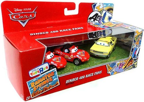 disney-pixar-cars-radiator-springs-classic-exclusive-dinoco-400-race-fans-gift-pack-mia-tia-and-jay-