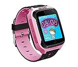 Innovationforyou GPS-Telefon Uhr Ohne Abhörfunktion, für Kinder, Notruf + Telefonfunktion, Live Ortung, Deutscher telefonischer und per Mail Support (Pink)