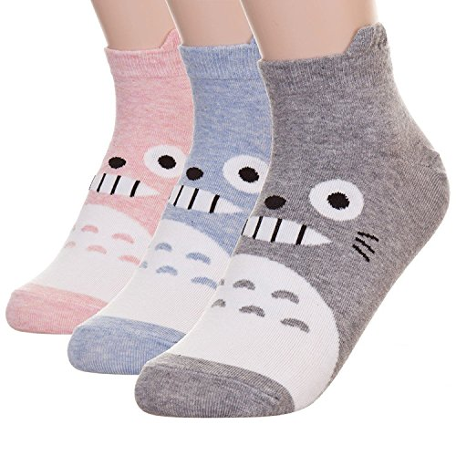 Happytree Berühmte Japanische Anime-Cartoon-Socken für Damen Gr. One size, Totoro 3 Pairs