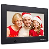 "TEC.BEAN 10.1"" 16G HD Digital Picture Frame with Built-in Storage & Motion Detection, MP3 & Video Player (Black)"
