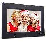 TEC.BEAN 10.1-Zoll 16G HD Digitaler Bilderrahmen mit Eingebautem Speicherung- und Bewegungssensoren, MP3- und Video-Wiedergabe (Schwarz)