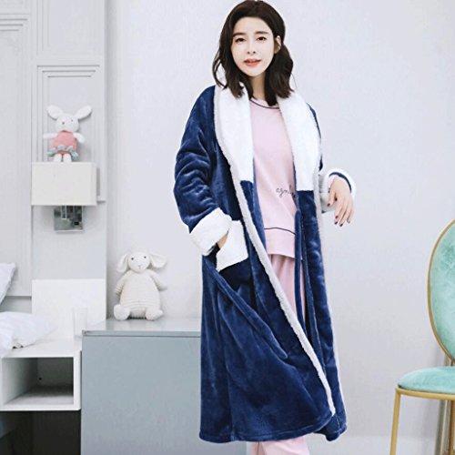 ZLR Lady Winter Season Pigiama 3 pezzi Set lungo Sleep Sleep Robe a maniche lunghe accappatoi Home Clothes Set ( Colore : C , dimensioni : L. ) C