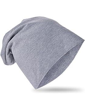 Baby Kinder Jersey Slouch Beanie Long Mütze Unisex Unifarbe Baumwolle Trend