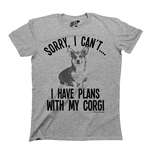 Sorry I Cant I Have Plans With My Corgi Dog T-Shirt Uomo e Donna Unisex Fit