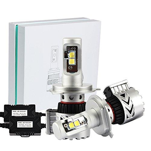 NIGHTEYE 2x Autoscheinwerfer Frontscheinwerfer 8HL LED Fit H4 72W 6500K 12000LM