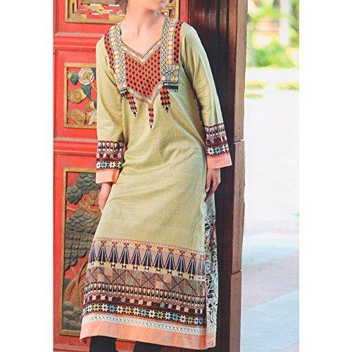 Ali Colours Pure Pakistani Lawn Embroidered Kurti For Women