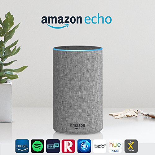 Das neue Amazon Echo (2. Generation), Hellgrau Stoff - 2