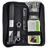 TRIXES Kit di Riparazione Bici - Kit di Attrezzi per Bicicletta con Sistema per la Riparazione di Forature - con Mini Pompa Manuale Portatile