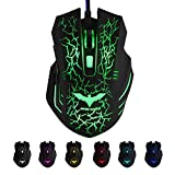 #4: ZELENOR S8 OYE 7 Button LED Optical USB Wired Gaming Mouse 7 LED Colours for Pro Gamer - Black