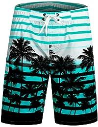 APTRO Men's Quick Dry Board Shorts Printed Palm Beach Swim Wear