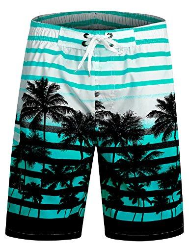 APTRO Herren Slim Fit Freizeit Shorts Casual Mode Urlaub Strand-Shorts Sommer Jun 1525 DE L Blau