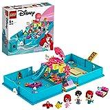 LEGO Disney- Princess Ariel e Il Principe Eric Set di Costruzioni Il Libro delle Fiabe con 2 Micro-Doll Disney più Flounder, Sebastian e Barca Costruibile, per Bambine +5 Anni, 43176