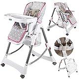 Kinderhochstuhl Babyhochstuhl Babystuhl Kinderstuhl KP0005 Höhenverstellbar (6 Positionen und klappbar) Neu