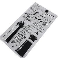 Kofun DIY Scrapbooking Transparent Stamps Silicone Rubber Clear Sheet DIY Card Gift Crafts Lighthouse