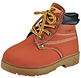 DADAWEN Baby Boy's Girl's Lace-Up Outdoor Ankle Boots Brown UK Child 5