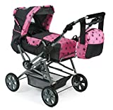 Bayer Chic 2000 562 83 Kombi-Puppenwagen Roadstar, Sternchen grau, rosa