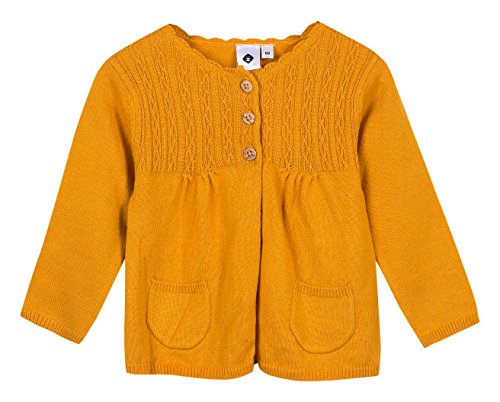 Grain de Blé Baby-Mädchen Strickjacke Cardigan en Maille ocre, Orange 75, 1 Jahr (Herstell Preisvergleich