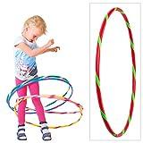 Hoopomania Bunter Hula Hoop für Kleine Profis Kinder Hula Hoop Reifen, Rot-Grün, Ø 80 cm, BKHH