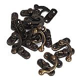 BQLZR Bronze Antike Vintage Eisen Vorhängeschloss Haken Horns Jewelry Box Schließe Packung mit 8